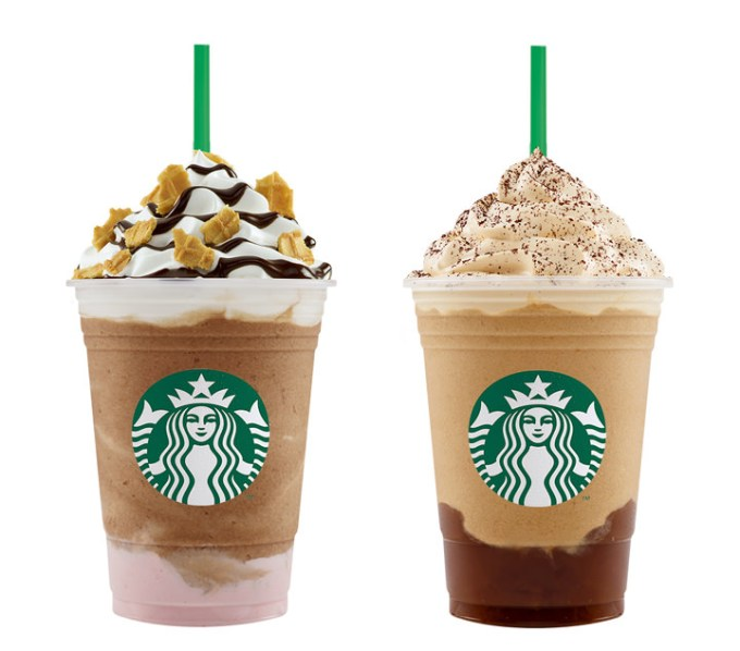 Starbucks Banana Split Mocha Frappuccino® and Irish Cream Coffee Pudding Frappuccino®