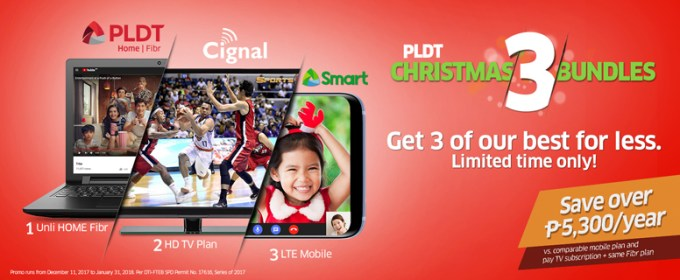 Start the new year right with best family deals from PLDT Christmas 3 Bundle Promo
