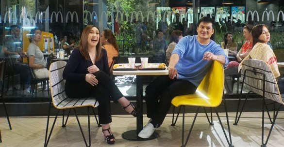 Sharon Cuneta and Gabby Concepcion share a McDo meal together, their first in ages.
