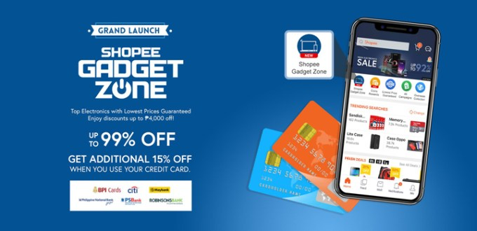 Pay by credit card to save even more at grand launch of Shopee Gadget Zone!