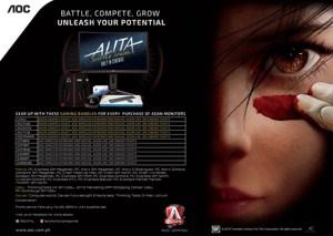 AOC partners with Twentieth Century Fox to Promote Release of Alita: Battle Angel.