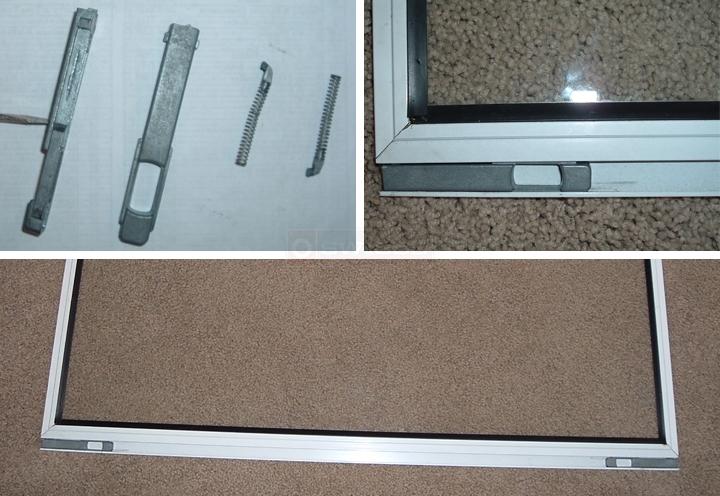 Latch To Raise And Lower Storm Window In Screen Door