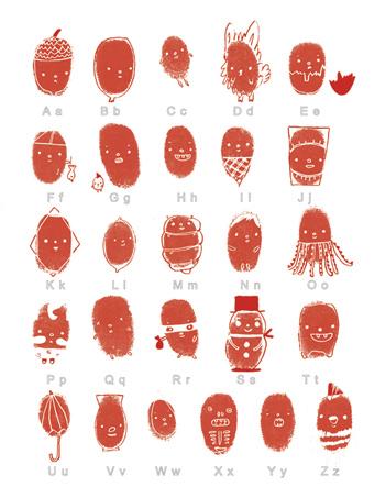 Swissmiss Thumbprint Chart ABCs