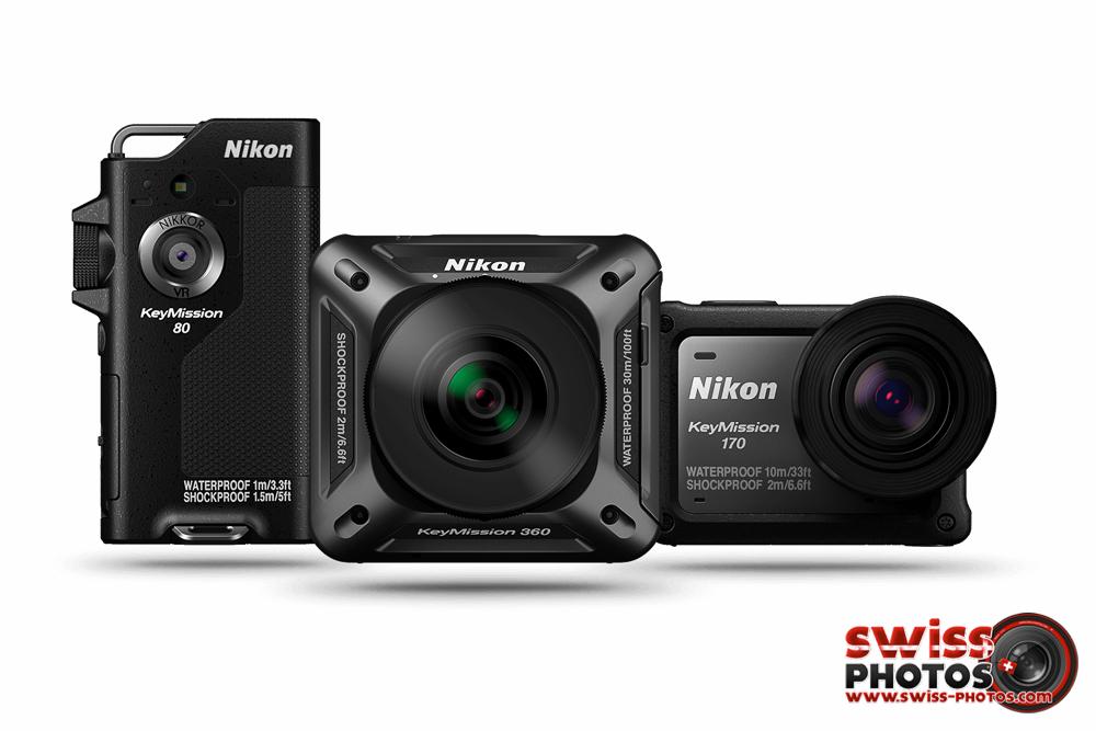 Nikon Keymission 80, 170 et 360