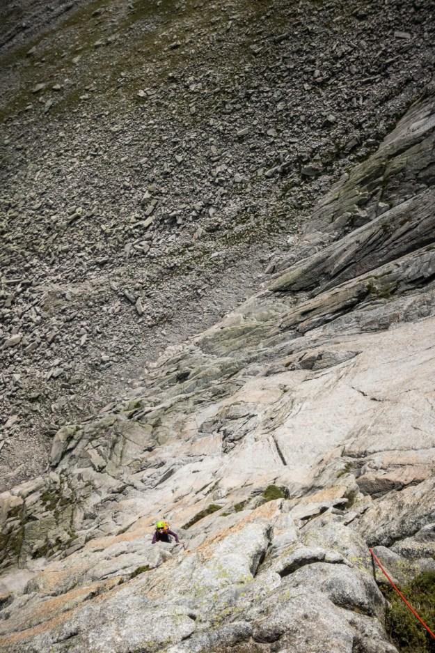 "Climbing on ""Excellent"" Gemsplanggenstock"