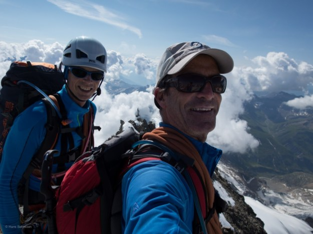 On the summit of the Mont Dolent