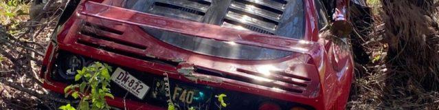Ferrari F40, un altro esemplare distrutto, questa volta in Australia