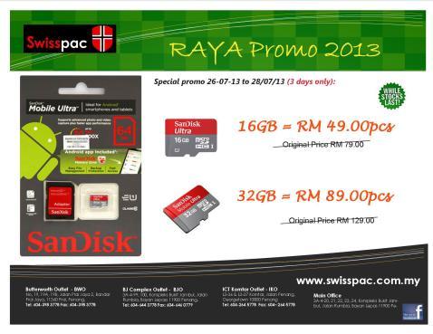 2013 Sandisk Raya Promo