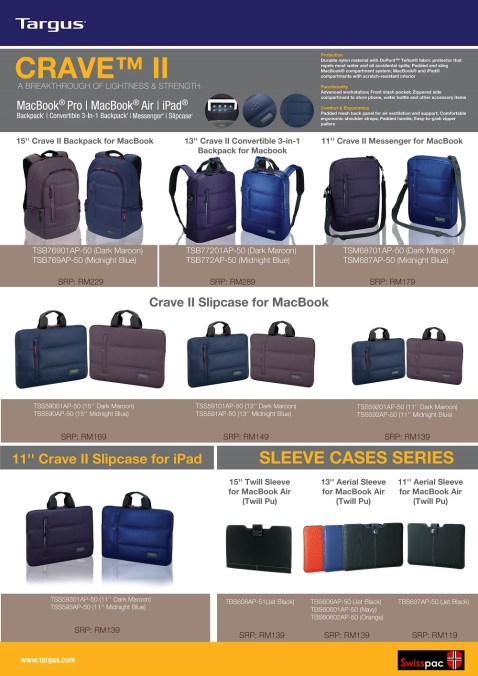 new targus bag series price listnAPR