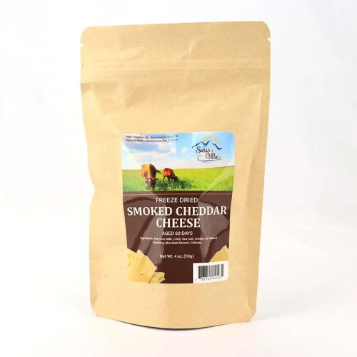 4 oz Smoked Cheddar Freeze Dried Cow Cheese