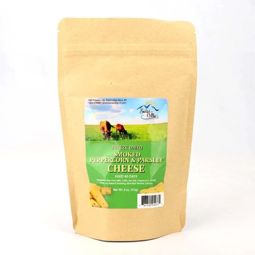 4 oz Smoked Parsley & Peppercorn Freeze Dried Cow Cheese