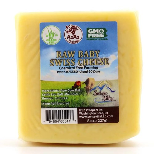 8 oz Baby Swiss Cow Cheese