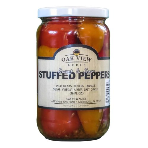 16 oz Sweet & Sour Stuffed Peppers from Oak View Acres