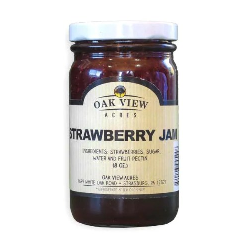 8 oz Strawberry Jam  from Oak View Acres