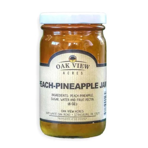 8 oz Peach Pineapple Jam from Oak View Acres