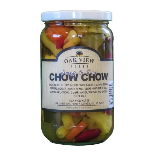 16 oz Sweet & Sour Chow Chow from Oak View Acres