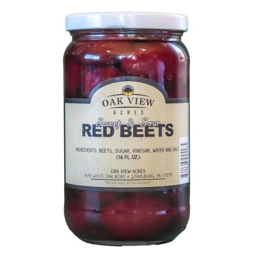 16 oz Sweet & Sour Red Beets from Oak View Acres