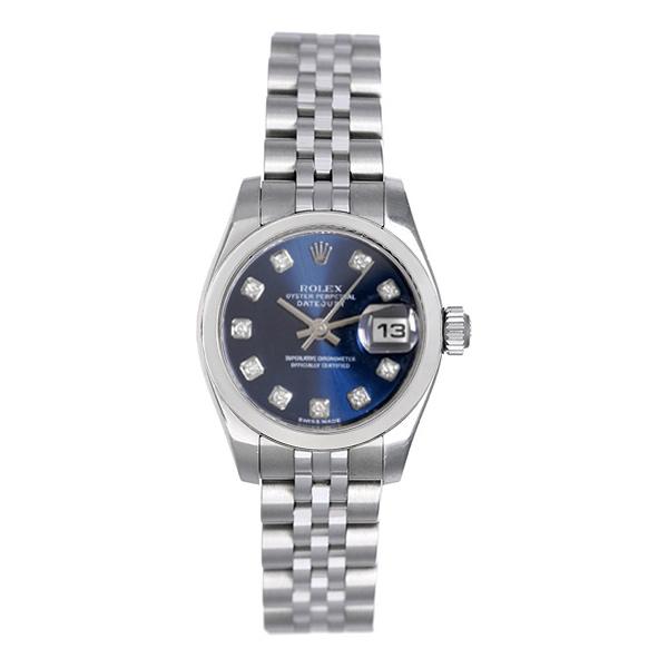 Rolex Watch Lady Datejust 69174 Blue Vignette Diamond Dial