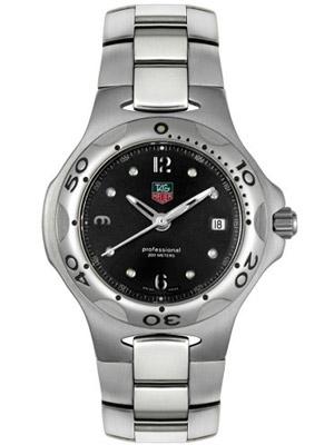 Tag Heuer Watch Mens Kirium WL 1112 Black Dial Date Window