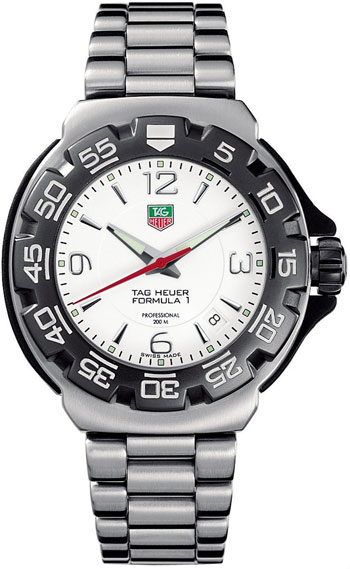 Tag Heuer Formula 1 Watch WAC 1211 White Dial Steel