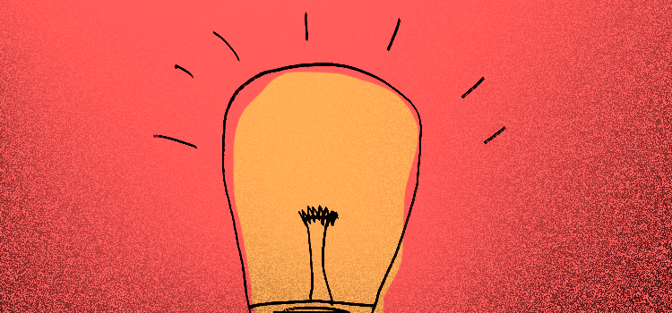 Light Bulb generating ideas