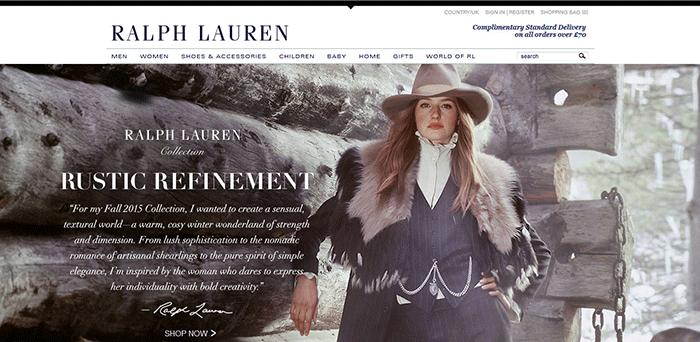Promoting luxury goods online Ralph Lauren