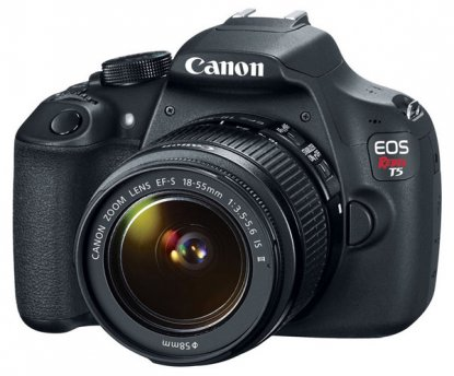 Canon Rebel T5 DSLR camera