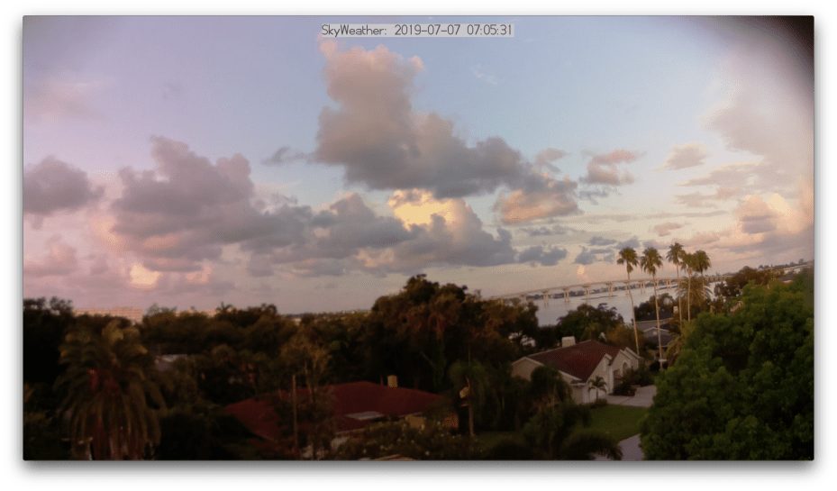 SkyWeather Site In Belleair, Florida with the Raspberry Pi