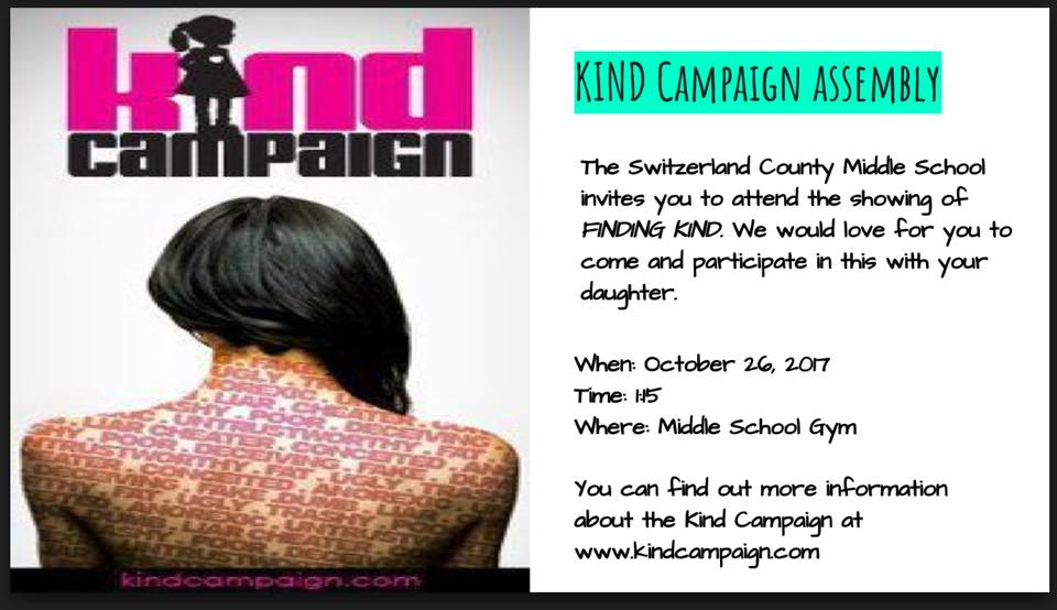Kind Campaign assembly October 26th, 2017
