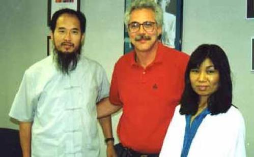 Dr. Finkler, Master Shen Wu and Nurse Mao