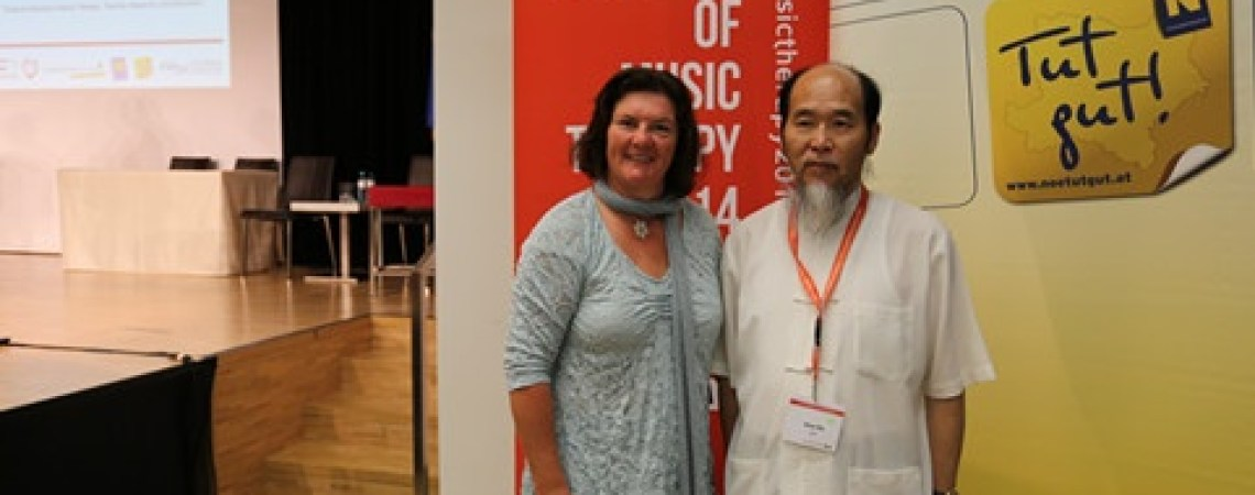 Former President of the World Federation of Music Therapy (WFMT) and Master Shen Wu