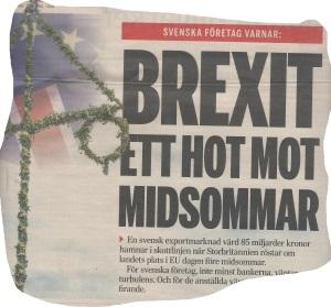 Brexit hotar midsommar