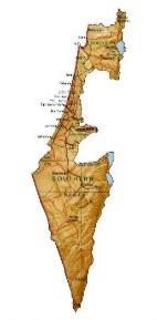 Karta över staten Israel