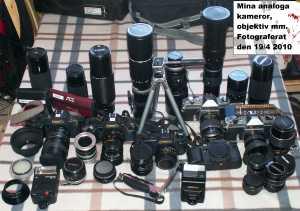 """Min """"kompletta"""" analoga fotoutrustning"""