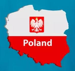 Karta över Polen