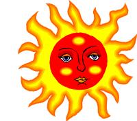 Solen strålar