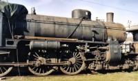 Ett gammalt tåg som klarade snö