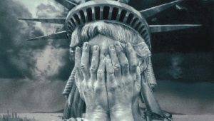 A crying statue of Liberty