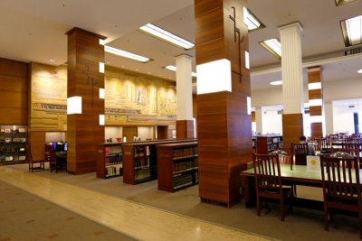 A look inside of a library