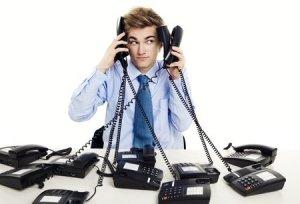 Stressed Receptionist
