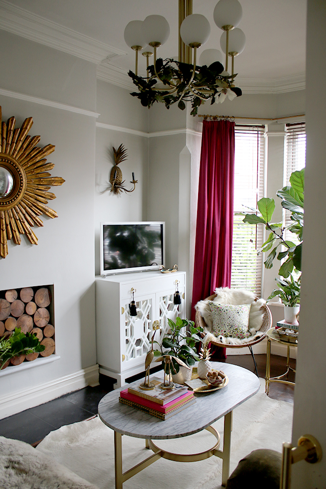 title   Boho Glam Living Room