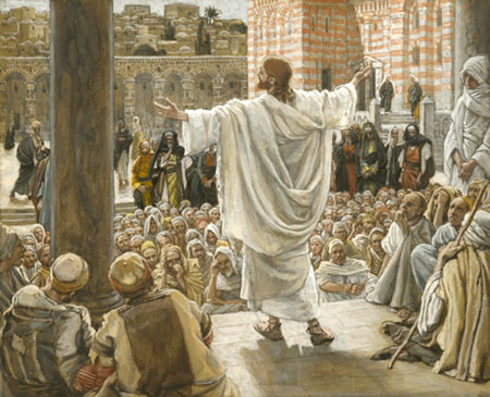 Image result for jesus preaching in the temple