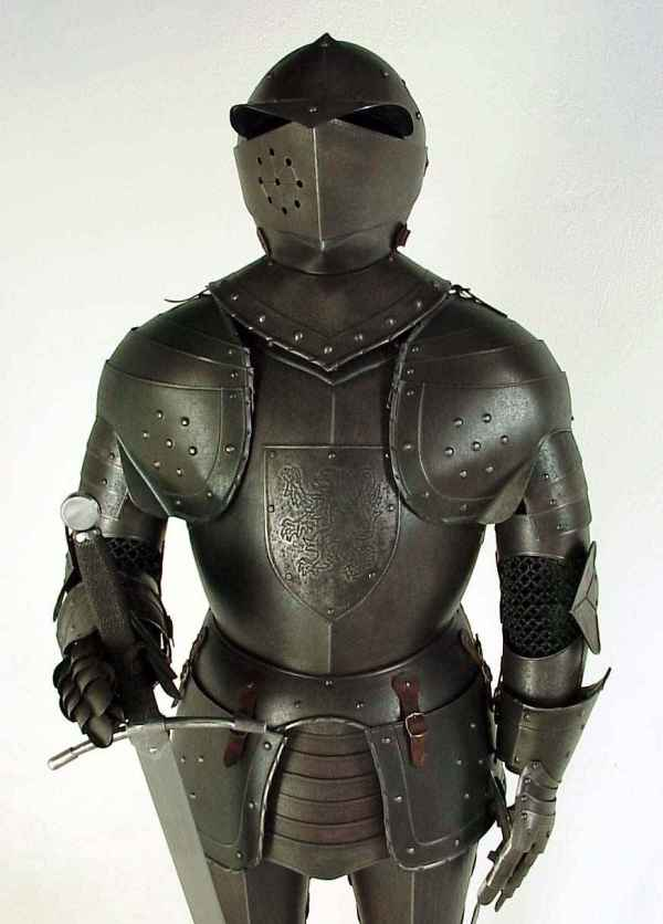 Wearable Suit of Armor, Aged Rust Finish
