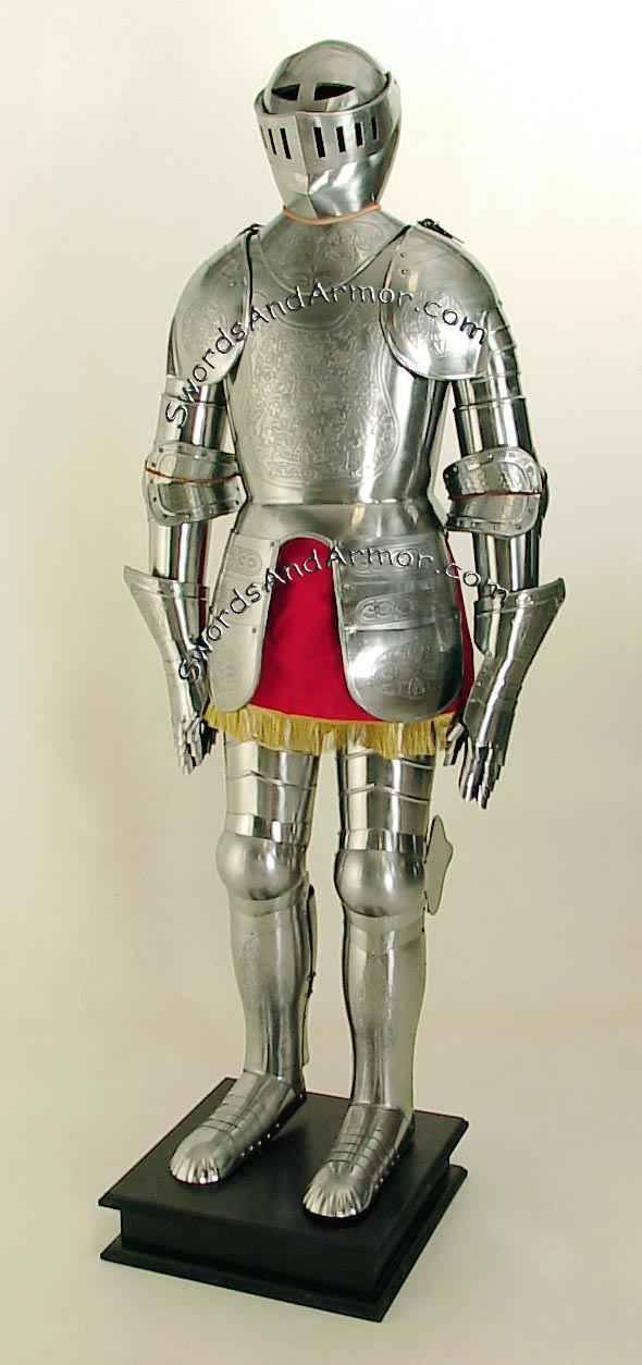 Suit of Armor, Etched : Engraved
