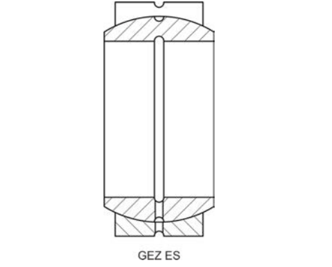 Structure Drawing Of Spherical Plain Bearing GEZ Series
