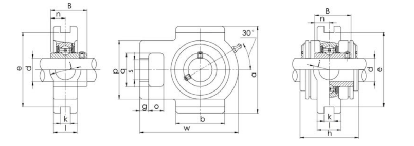Bearing unit UCT type structure diagram