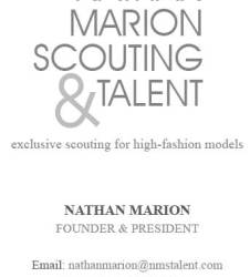 Nathan Marion Scouting and Talent Business Card