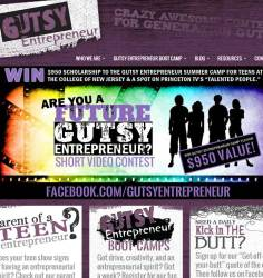 Gutsy Entrepreneur Website Homepage