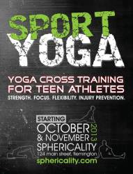 Sphericality Sport Yoga Postcard