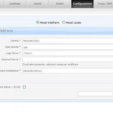 Parametri Configurazione Mexal in locale o in Server Farm